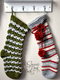 victoria and dylan christmas stocking crochet patterns by