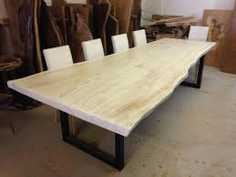 Dining Room Furniture Plans Live Edge Dining Table White Redwood Throughout Tables Plans 2