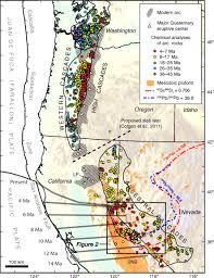 Oregon Volcano Map by Miocene Magmatism In The Bodie Hills Volcanic Field California