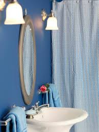 Royal Blue Bathroom by Royal Blue And White Shower Curtain Curtain Menzilperde Net