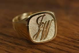 Mens Monogram Rings Initials Ring Engraving Custom Design Or Monogram
