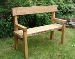 Rustic Oak Bench Rustic Bench With Back Foter