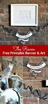 Famous Halloween Poem The Raven Free Printable Banner U0026 Art