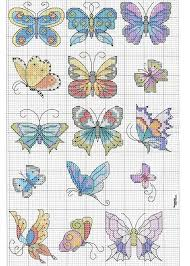butterfly cross stitch i would clean up the edges on them with