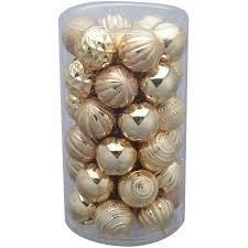 time 41 pack gold matte glitter ornaments walmart
