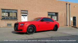 porsche matte red project rolls royce ghost wrapped in matte red by dbx diamond