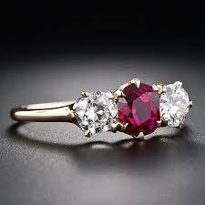 tiffany stone rings images Tiffany co antique ruby and diamond three stone ring jpg