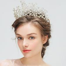 headdress for wedding rhinestone plum flower tiara headdress blossom pearl crown