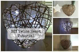 Domestication Home Decor Diy Twine Heart Tutorial Blissful Domestication