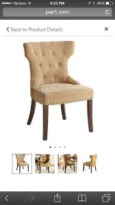 Damask Dining Chair 2 Pier One Hourglass Gold Damask Dining Chairs Furniture In