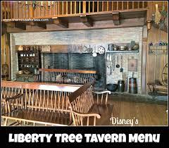 table service magic kingdom liberty tree tavern menu walt disney liberty and resorts