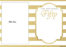 50th birthday invitations to print for free image collections