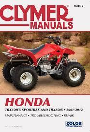 honda atv service and repair manuals from clymer