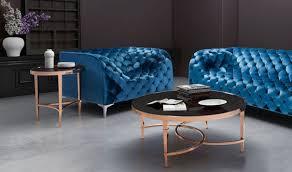 elite modern coffee table in gold u0026 black by zuo get furniture