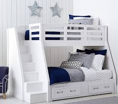 Bunk Beds With Stairs Belden Twin Over Full Stair Loft Bed Pottery Barn Kids