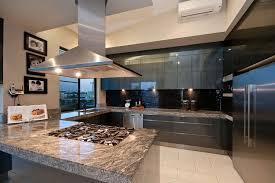 granite countertop contemporary walnut kitchen cabinets do it