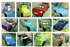 cars 14 tree mini ornaments
