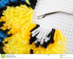 Latch Hook Rugs Latch Hook Rug Stitch Stock Image Image 26358051