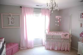 Stylish Pink Bedrooms - bedroom pretty crystal chandelier baby nursery decorating