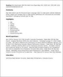 Data Analyst Sample Resume by Sql Server Dba Resume Party Invitations Templates Free Downloads