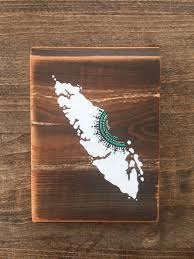 Home Decor Vancouver by White U0026 Turquoise Mandala Island Mini Reclaimed Wood Rustic