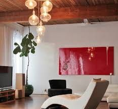 double height living room living room modern with loft