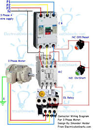 3 phase wiring installation in house with electrical diagram