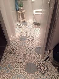 black and white bathroom floor tile carved dark brown high gloss