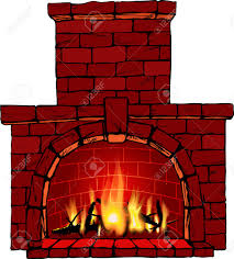 illustration of fire in fireplace royalty free cliparts vectors