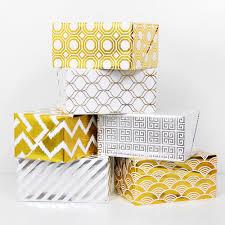 gold foil wrap geometric gold foil gift wrap haute papier