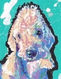bedlington terrier guard dog hummingbird image for blog to do list pinterest painting