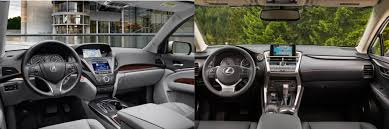 lexus nx 200t interior head to head 2016 acura mdx vs 2016 lexus nx 200t autonation