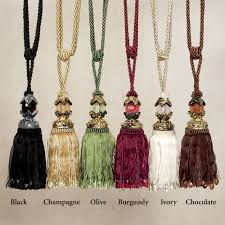 beaded tassel tiebacks