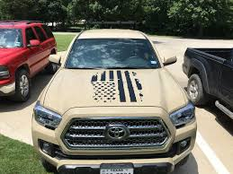 jeep american flag decal bed rack build killer hood decal 5k mile review tacoma world