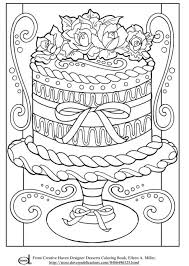 realistic wedding cake advanced coloring pages grown ups