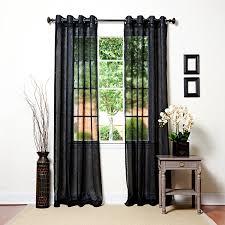 com best home fashion crushed voile sheer curtains antique bronze grommet top black 52 w x 84 l set of 2 panels home kitchen
