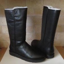 ugg australia emalie 1008017 black leather ankle waterproof ugg australia s zip us size 12 ebay