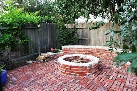 Firepit Brick Brick Pit Ideas Fireplace Design Ideas