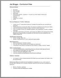 basic curriculum vitae template resumedoc