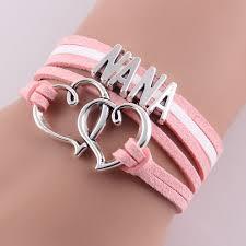 infinity love little minglou infinity love nana bracelet heart feet charm