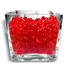 Water Beads Centerpieces 14g Red Big Round Deco Water Beads Jelly Vase Filler Balls For