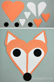 Easy Arts And Crafts For Kids With Paper - best 25 fox craft preschool ideas on pinterest forest animal