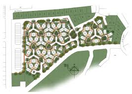 nong chik honeycomb layout urban planning pinterest