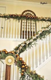 Decorating Staircase by Christmas Staircase Peeinn Com