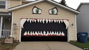 House Gif Cleveland Woman Transforms Her Garage Door Into A Monster With