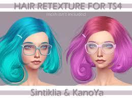sims 4 blue hair kanoya sims fantastic colorful hairs sims 4 downloads
