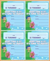 bubble guppies party invitations oxsvitation com