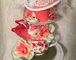 Mad Hatter Tea Party Centerpieces by Tea Cup Centerpiece Etsy