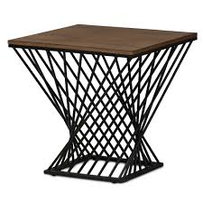 Wire Side Table Black Wire Wood Twist Side Table Modern Furniture Brickell