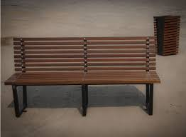 Street Furniture Benches Public Bench Contemporary Wooden Steel Bergen 02 015